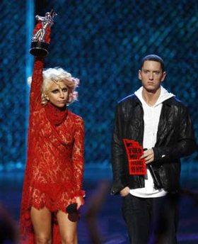 Gaga Eminem VMA